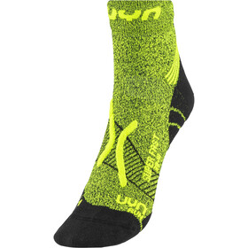 UYN Run Super Fast Chaussettes Homme, yellow fluo melange/black